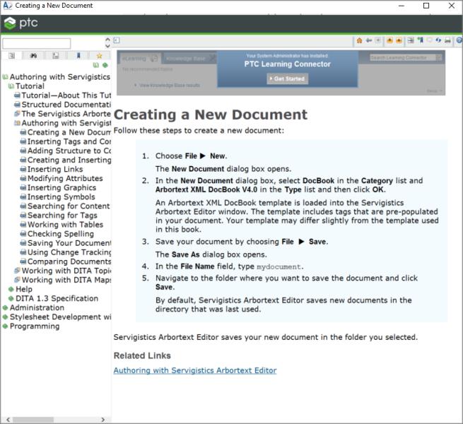arbortext-creating-new-document